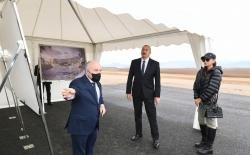 Prezident Zəngilan Beynəlxalq Hava Limanının tikintisi ilə tanış olub