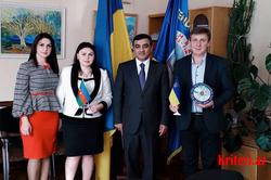Şamaxı məktəb direktoru Ukraynada çox yüksək səviyyədə qarşılandı